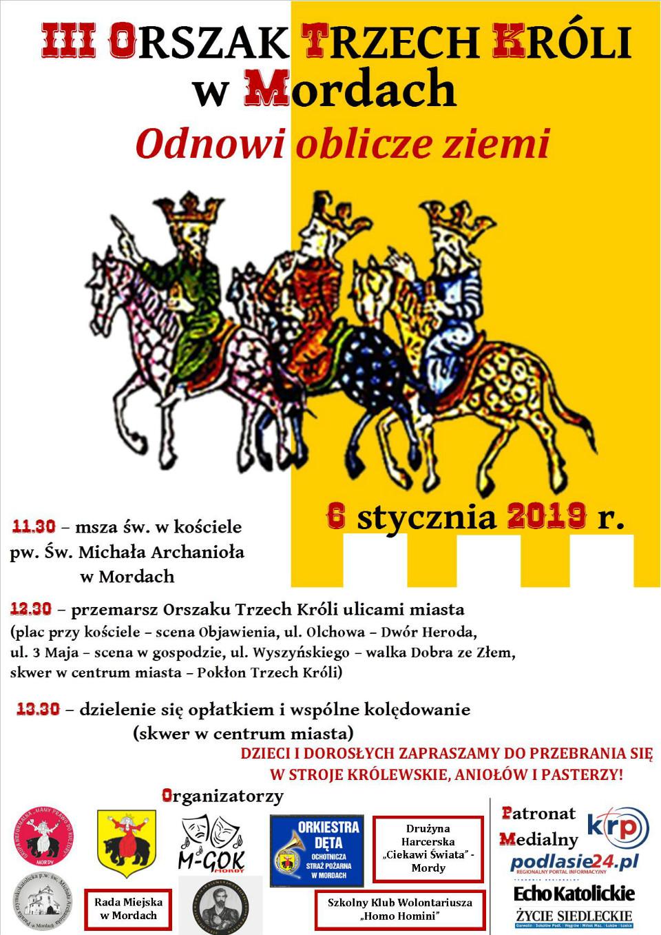 plakat orszak trzech króli
